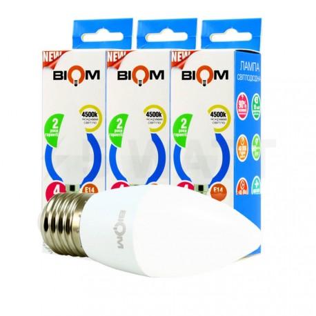 Комплект LED ламп BIOM C37 4W 4500K E27 (по 3 шт.) - придбати