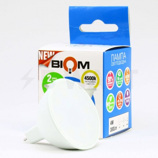 Світлодіодна лампа Biom BT-541 MR16 4W GU5.3 3000К матова - магазин світлодіодної LED продукції