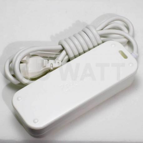 Подовжувач Profitec 3гн. 10м., Білий (PRFGRP 1010300010) - в інтернет-магазині
