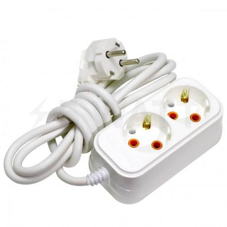 Удлинитель с заземлением Profitec 2гн. 2м., белый (PRFGRP 1010200102) - купить
