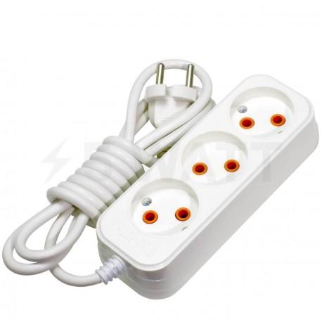 Удлинитель Profitec 3гн. 3м., белый (PRFGRP 1010300003) - купить