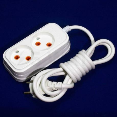 Подовжувач Profitec 2гн. 2м., Білий (PRFGRP 1010200002) - в інтернет-магазині