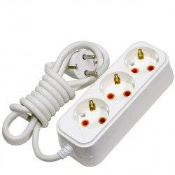 Удлинитель с заземлением и кнопкой Profitec 3гн. 2м., белый (PRFGRP 1010300202)