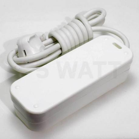 Подовжувач із заземленням і кнопкою Profitec 3гн. 5м., Білий (PRFGRP 1010300205) - недорого
