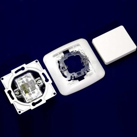 Вимикач одноклавішний Gunsan Fantasy білий (1231100161101) - в інтернет-магазині