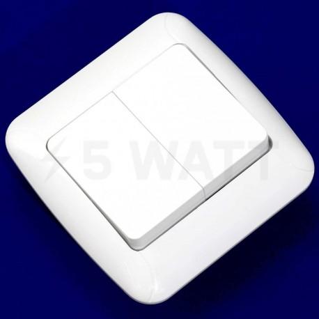 Выключатель двухклавишный Gunsan Fantasy белый (1231100161103) - недорого