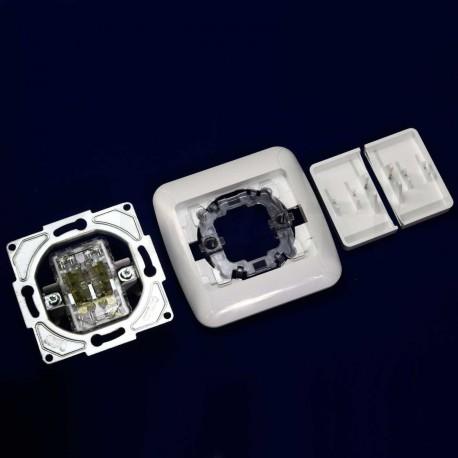 Выключатель двухклавишный Gunsan Fantasy белый (1231100161103) - в интернет-магазине