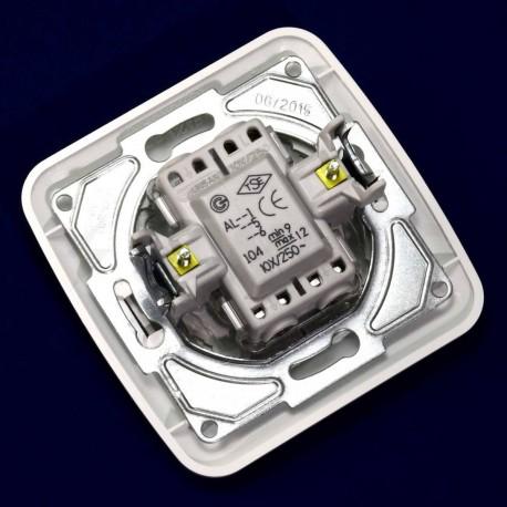 Выключатель двухклавишный Gunsan Fantasy белый, с подсветкой (1231100161104) - в Украине