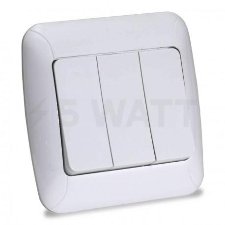 Выключатель трёхклавишный Gunsan Fantasy белый (1231100161160) - купить
