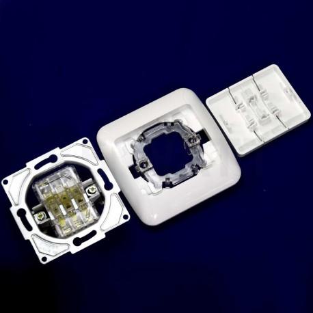 Вимикач трёхклавішний Gunsan Fantasy білий (1231100161160) - в інтернет-магазині