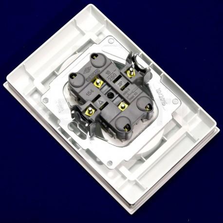 Електрична подвійна розетка Gunsan Eqona біла, без заземлення (1401100100149) - в інтернет-магазині