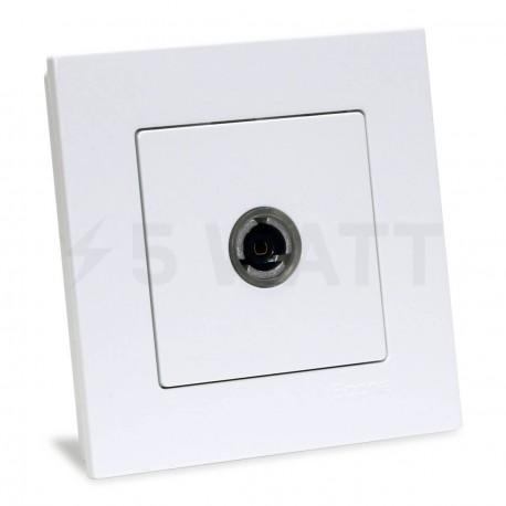 ТВ-розетка прохідна Gunsan Eqona біла (1401100100122) - придбати