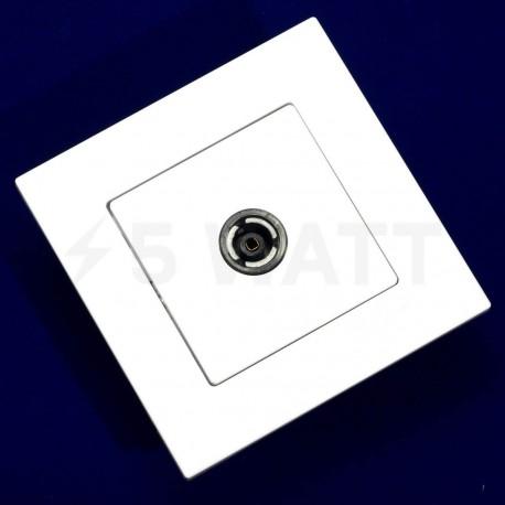 ТВ-розетка прохідна Gunsan Eqona біла (1401100100122) - недорого