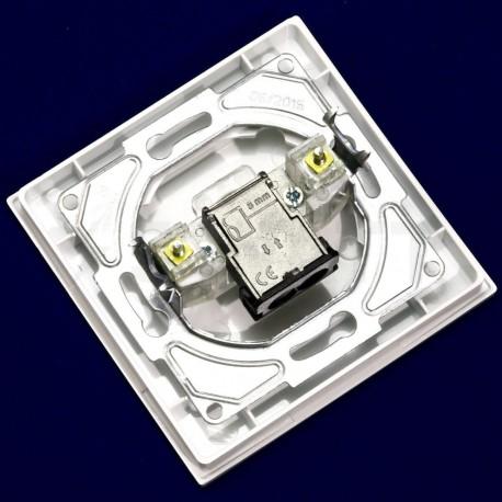 ТВ-розетка прохідна Gunsan Eqona біла (1401100100122) - в інтернет-магазині