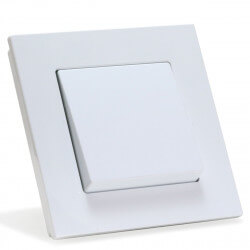 Выключатель одноклавишный Gunsan Eqona белый (1401100100101)