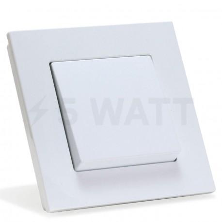 Выключатель одноклавишный Gunsan Eqona белый (1401100100101) - купить
