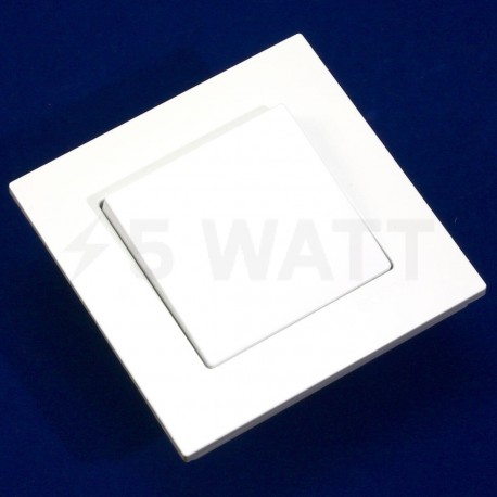 Выключатель одноклавишный Gunsan Eqona белый (1401100100101) - недорого