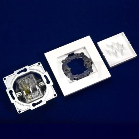 Выключатель одноклавишный Gunsan Eqona белый (1401100100101) - в интернет-магазине