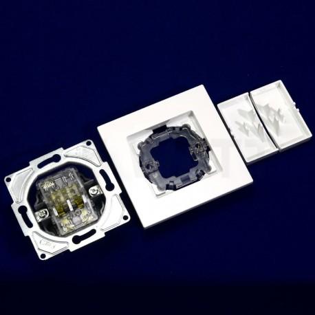 Выключатель двухклавишный Gunsan Eqona белый (1401100100103) - в Украине