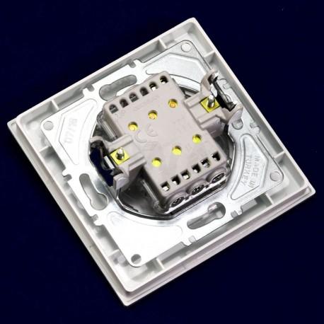 Выключатель трёхклавишный Gunsan Eqona белый (1401100100160) - в Украине