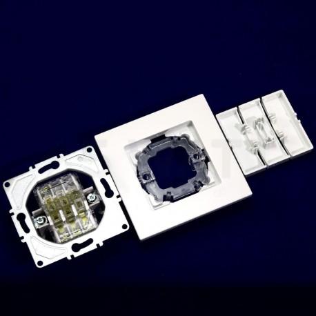 Выключатель трёхклавишный Gunsan Eqona белый (1401100100160) - в интернет-магазине