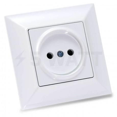 Електрична одинарна розетка Gunsan Neoline біла, без заземлення (1421100100113) - придбати