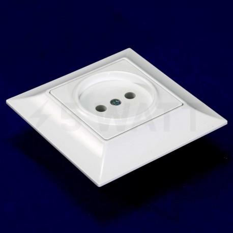 Електрична одинарна розетка Gunsan Neoline біла, без заземлення (1421100100113) - недорого