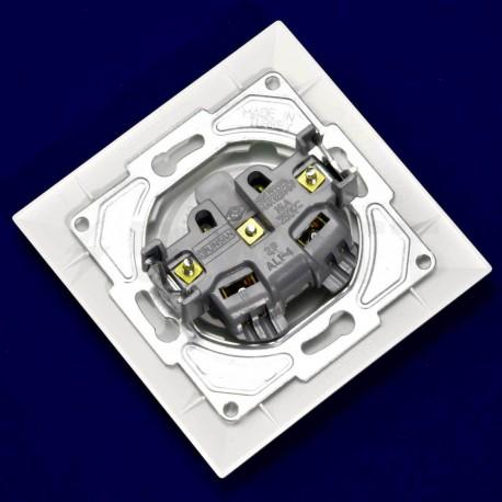 Електрична одинарна розетка Gunsan Neoline біла, без заземлення (1421100100113) - в інтернет-магазині
