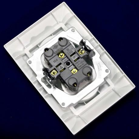 Электрическая двойная розетка Gunsan Neoline белая, без заземления (1421100100149) - в интернет-магазине