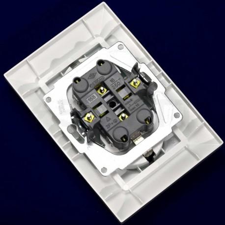 Електрична подвійна розетка Gunsan Neoline біла, із заземленням (1421100100150) - в інтернет-магазині