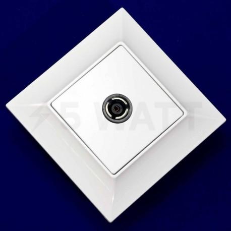 ТВ-розетка прохідна Gunsan Neoline біла (1421100100122 ) - недорого