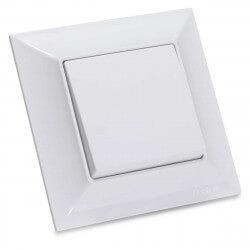 Выключатель одноклавишный Gunsan Neoline белый (1421100100101)