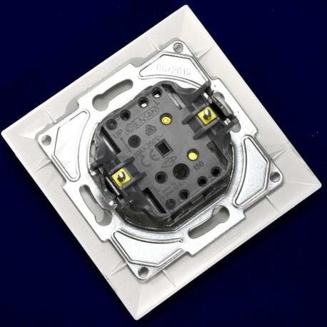 Выключатель одноклавишный Gunsan Neoline белый (1421100100101) - в интернет-магазине