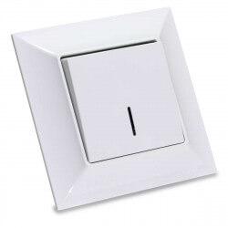 Выключатель одноклавишный Gunsan Neoline белый, с подсветкой (1421100100102)