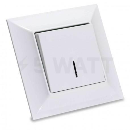 Выключатель одноклавишный Gunsan Neoline белый, с подсветкой (1421100100102) - купить