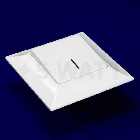 Вимикач одноклавішний Gunsan Neoline білий, з підсвічуванням (1421100100102) - недорого