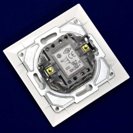 Вимикач одноклавішний Gunsan Neoline білий, з підсвічуванням (1421100100102) - в інтернет-магазині