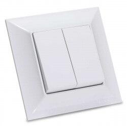 Выключатель двухклавишный Gunsan Neoline белый (1421100100103)