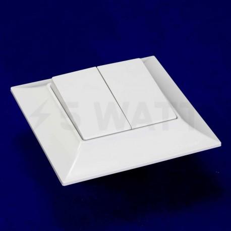 Выключатель двухклавишный Gunsan Neoline белый (1421100100103) - недорого