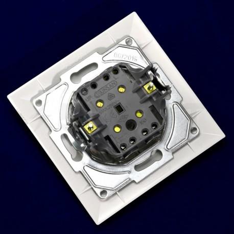 Выключатель двухклавишный Gunsan Neoline белый (1421100100103) - в интернет-магазине