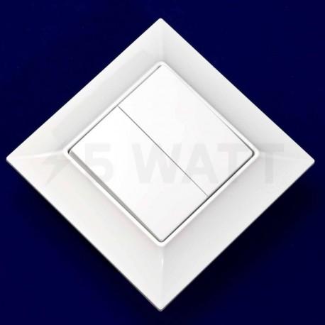 Выключатель двухклавишный Gunsan Neoline белый (1421100100103) - магазин светодиодной LED продукции