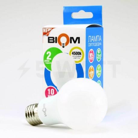 Светодиодная лампа Biom BT-510 A60 10W E27 4500К матовая - в Украине
