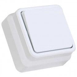 Выключатель одноклавишный Gunsan Misya наружный белый (1051100100101)