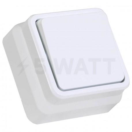 Выключатель одноклавишный Gunsan Misya наружный белый (1051100100101) - купить