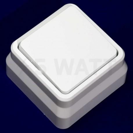 Вимикач одноклавішний Gunsan Misya зовнішній білий (1051100100101) - недорого