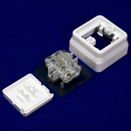Вимикач одноклавішний Gunsan Misya зовнішній білий (1051100100101) - в інтернет-магазині