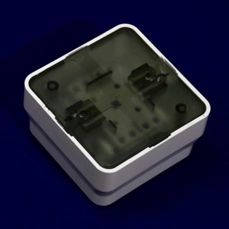 Вимикач одноклавішний Gunsan Misya зовнішній білий (1051100100101) - магазин світлодіодної LED продукції