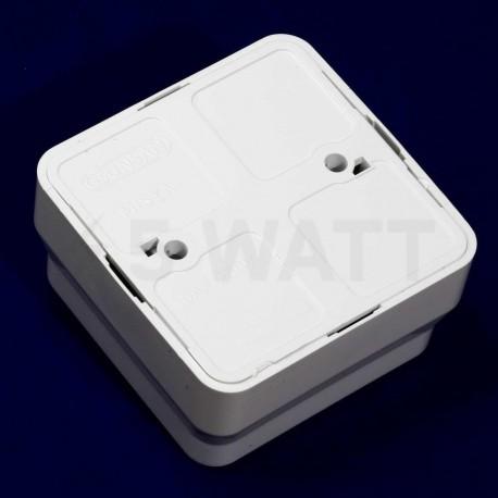 Выключатель двухклавишный Gunsan Misya наружный белый (1051100100103) - магазин светодиодной LED продукции