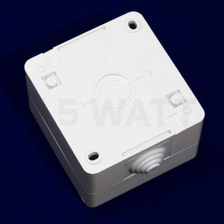Электрическая одинарная розетка Gunsan Nemli влагозащищённая белая, с заземлением (1071100100117) - магазин светодиодной LED продукции