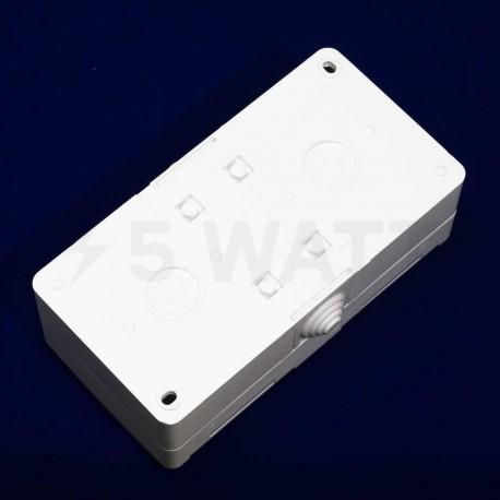 Электрическая двойная розетка Gunsan Nemli влагозащищённая белая, с заземлением (1071100100195) - магазин светодиодной LED продукции